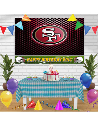 49RS Birthday Banner Personalized Party Backdrop Decoration