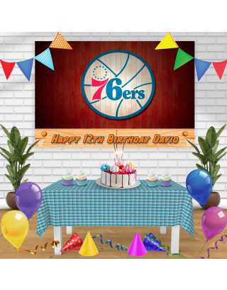 76RS Birthday Banner Personalized Party Backdrop Decoration