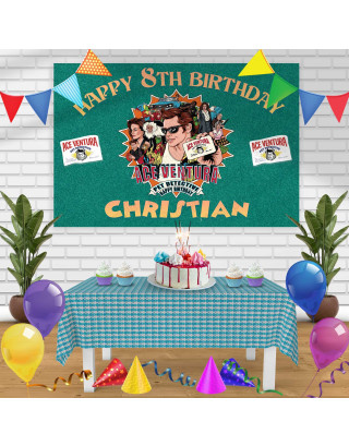 Ace Ventura Pet Detective Birthday Banner Personalized Party Backdrop Decoration