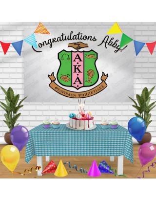 Alpha Kappa Alpha Birthday Banner Personalized Party Backdrop Decoration