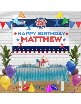 American Ninja Warrior Birthday Banner Personalized Party Backdrop Decoration