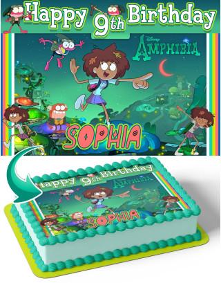 Amphibia Edible Image Cake Topper Personalized Birthday Sheet Decoration Custom Party Frosting Transfer Fondant