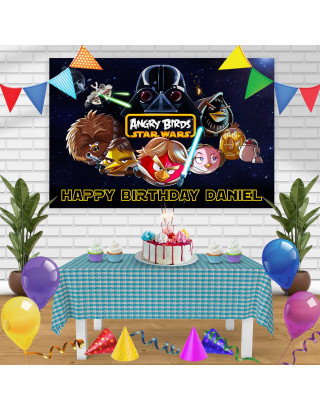 Angry Birds Star Wars Birthday Banner Personalized Party Backdrop Decoration