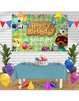 Animal Crossing Birthday Banner Personalized Party Backdrop Decoration