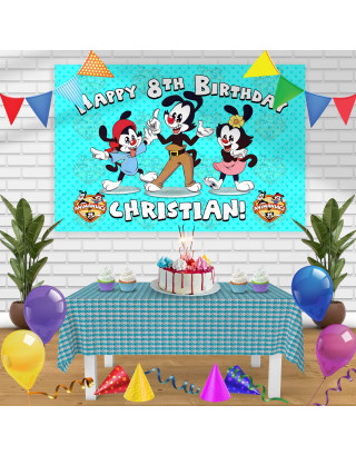 Animaniacs Birthday Banner Personalized Party Backdrop Decoration