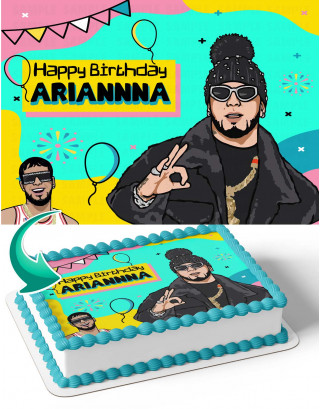 Anuel AA Edible Image Cake Topper Personalized Birthday Sheet Decoration Custom Party Frosting Transfer Fondant