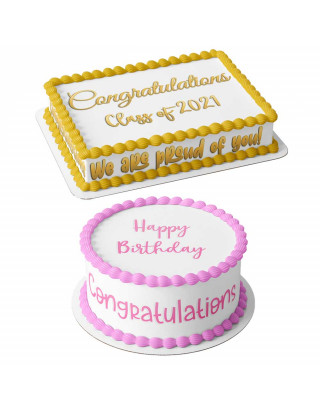 Any Text Personalized Edible Cake Image Topper