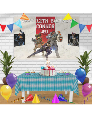 Apex legend Birthday Banner Personalized Party Backdrop Decoration