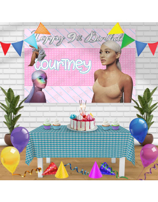 Ariana Grande Birthday Banner Personalized Party Backdrop Decoration