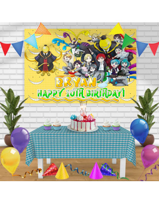 Assassination Classroom Birthday Banner Personalized Party Backdrop Decoration