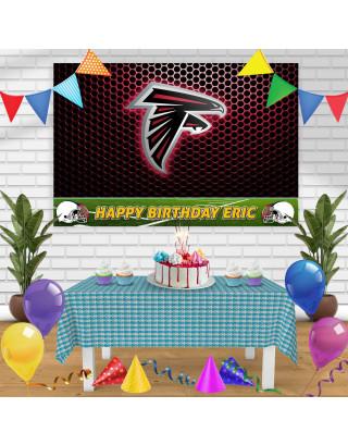Atlanta Falcons Birthday Banner Personalized Party Backdrop Decoration