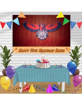 ATLANTA HAWS Birthday Banner Personalized Party Backdrop Decoration