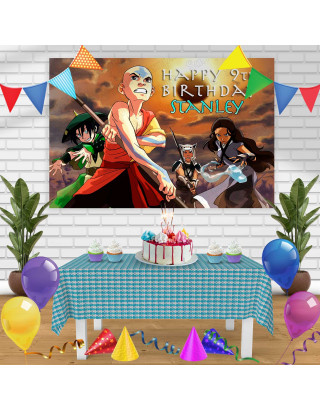 Avatar The Last Airbender 1 Birthday Banner Personalized Party Backdrop Decoration