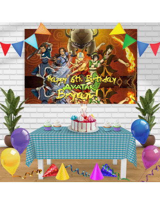 Avatar The Last Airbender 2 Birthday Banner Personalized Party Backdrop Decoration