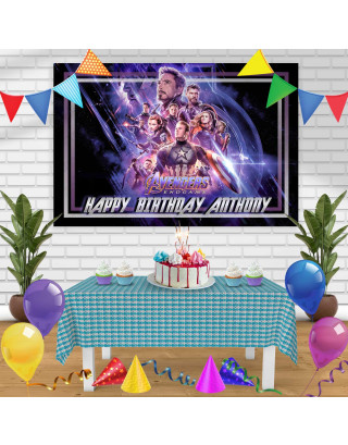 Avengers Endgame 1 Birthday Banner Personalized Party Backdrop Decoration
