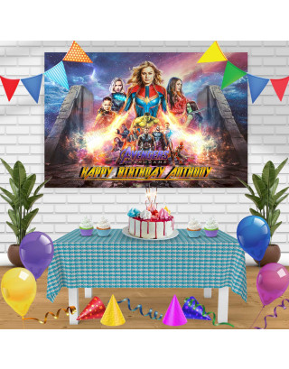 Avengers Endgame 2 Birthday Banner Personalized Party Backdrop Decoration