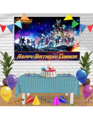 Avengers Infinity War 1 Birthday Banner Personalized Party Backdrop Decoration