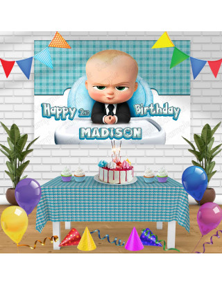 Baby Boss 2 Birthday Banner Personalized Party Backdrop Decoration