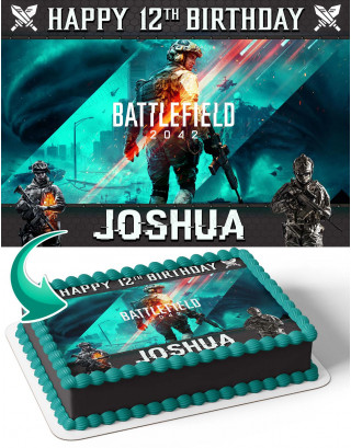 Battlefield 2042 Edible Image Cake Topper Personalized Birthday Sheet Decoration Custom Party Frosting Transfer Fondant