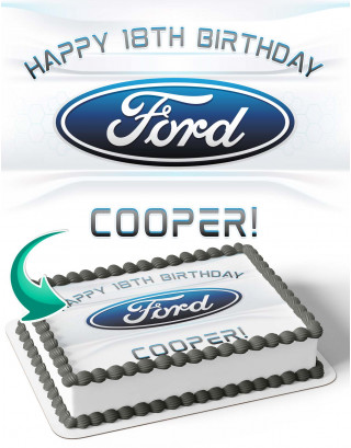 Ford Cars Edible Image Cake Topper Personalized Birthday Sheet Decoration Custom Party Frosting Transfer Fondant