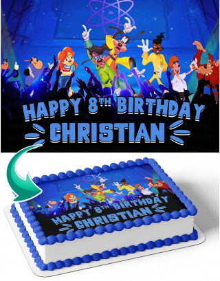 Goofy Edible Image Cake Topper Personalized Birthday Sheet Decoration Custom Party Frosting Transfer Fondant
