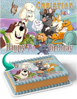 Housebroken Edible Image Cake Topper Personalized Birthday Sheet Decoration Custom Party Frosting Transfer Fondant