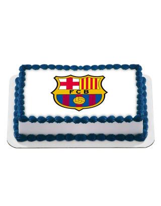 Barcelona Football Club Logo Barca Edible Image Cake Topper Personalized Birthday Sheet Decoration Custom Party Frosting Transfer Fondant