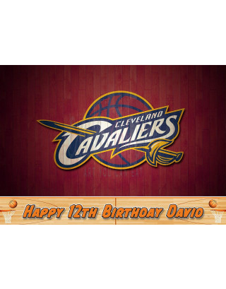 Cleveland Cavaliers Basketball Edible Image Cake Topper Personalized Birthday Sheet Decoration Custom Party Frosting Transfer Fondant