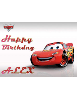 Disney Cars Lightning McQueen Edible Image Cake Topper Personalized Birthday Sheet Decoration Custom Party Frosting Transfer Fondant