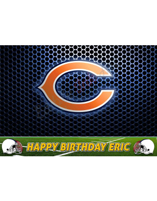 Chicago Bears NFL Edible Image Cake Topper Personalized Birthday Sheet Decoration Custom Party Frosting Transfer Fondant
