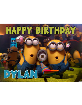 Despicable Minions Edible Image Cake Topper Personalized Birthday Sheet Decoration Custom Party Frosting Transfer Fondant