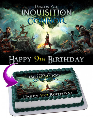 Dragon Age Inquisition Edible Image Cake Topper Personalized Birthday Sheet Decoration Custom Party Frosting Transfer Fondant