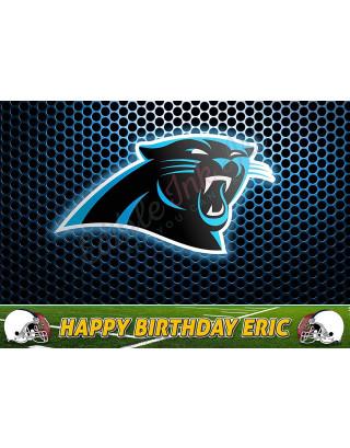 Carolina Panthers NFL Edible Image Cake Topper Personalized Birthday Sheet Decoration Custom Party Frosting Transfer Fondant
