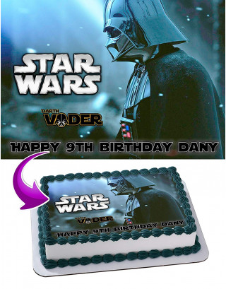 Anakin Skywalker Darth Vader Edible Image Cake Topper Personalized Birthday Sheet Decoration Custom Party Frosting Transfer Fondant