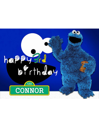 Cookie Monster Sesame Street Edible Image Cake Topper Personalized Birthday Sheet Decoration Custom Party Frosting Transfer Fondant