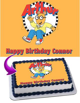 Arthur Edible Image Cake Topper Personalized Birthday Sheet Decoration Custom Party Frosting Transfer Fondant