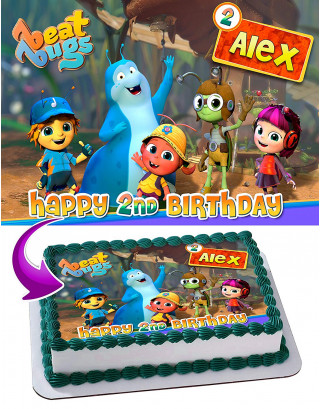 Beat Bugs Edible Image Cake Topper Personalized Birthday Sheet Decoration Custom Party Frosting Transfer Fondant