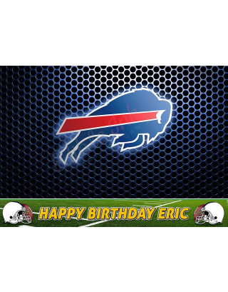 Buffalo Bills NFL Edible Image Cake Topper Personalized Birthday Sheet Decoration Custom Party Frosting Transfer Fondant