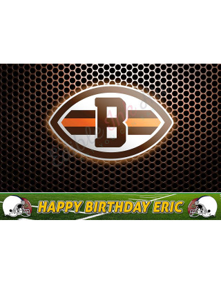 Cleveland Browns NFL Edible Image Cake Topper Personalized Birthday Sheet Decoration Custom Party Frosting Transfer Fondant