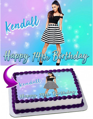 Ariana Grande Edible Image Cake Topper Personalized Birthday Sheet Decoration Custom Party Frosting Transfer Fondant