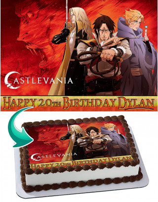 Castlevania Edible Image Cake Topper Personalized Birthday Sheet Decoration Custom Party Frosting Transfer Fondant