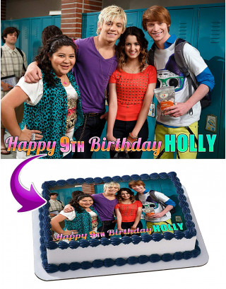 Austin and Ally Edible Image Cake Topper Personalized Birthday Sheet Decoration Custom Party Frosting Transfer Fondant
