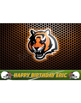 Cincinnati Bengals NFL Edible Image Cake Topper Personalized Birthday Sheet Decoration Custom Party Frosting Transfer Fondant