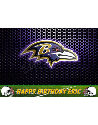 Baltimore Ravens NFL Edible Image Cake Topper Personalized Birthday Sheet Decoration Custom Party Frosting Transfer Fondant