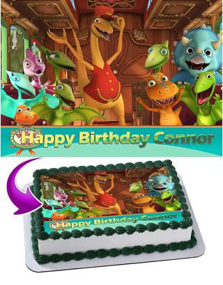 Dinosaur Train Edible Image Cake Topper Personalized Birthday Sheet Decoration Custom Party Frosting Transfer Fondant