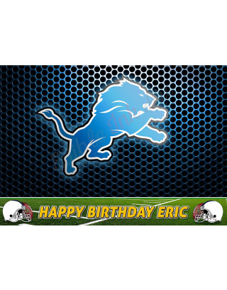 Detroit Lions NFL Edible Image Cake Topper Personalized Birthday Sheet Decoration Custom Party Frosting Transfer Fondant