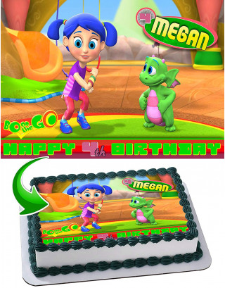 Bo on the Go Edible Image Cake Topper Personalized Birthday Sheet Decoration Custom Party Frosting Transfer Fondant
