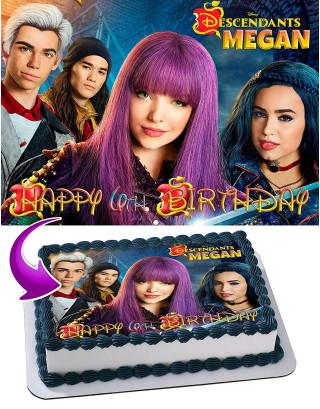 Descendants Edible Image Cake Topper Personalized Birthday Sheet Decoration Custom Party Frosting Transfer Fondant