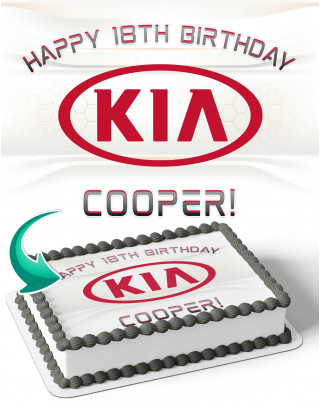Kia Edible Image Cake Topper Personalized Birthday Sheet Decoration Custom Party Frosting Transfer Fondant