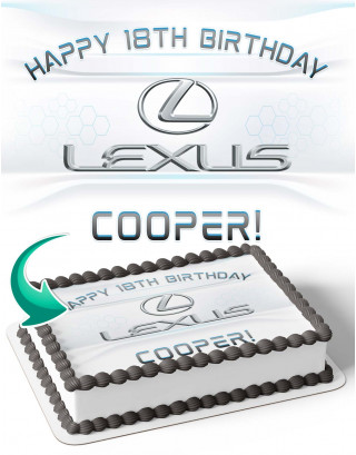Lexus Edible Image Cake Topper Personalized Birthday Sheet Decoration Custom Party Frosting Transfer Fondant
